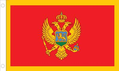 Montenegro World Flags - Nylon & Polyester - 2' x 3' to 5' x 8'