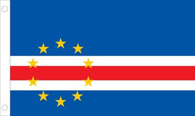 Cape Verde World Flags - Nylon & Polyester - 2' x 3' to 5' x 8'
