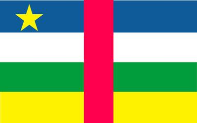 Central African Republic World Flag