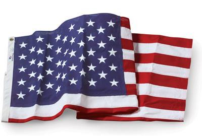 U.S. Flag - 5 x 8 Embroidered Cotton