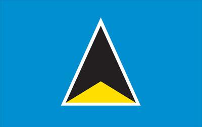 St Lucia World Flags - Nylon & Polyester - 2' x 3' to 5' x 8'