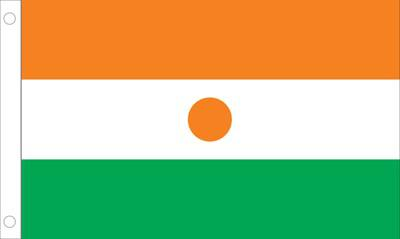 Niger World Flags - Nylon & Polyester - 2' x 3' to 5' x 8'