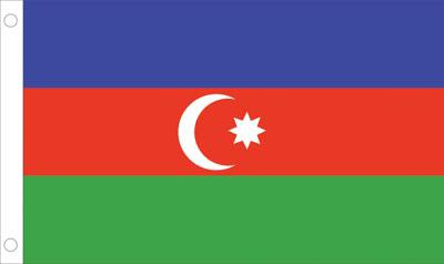 Azerbaijan World Flags - Nylon & Polyester - 2' x 3' to 5' x 8'