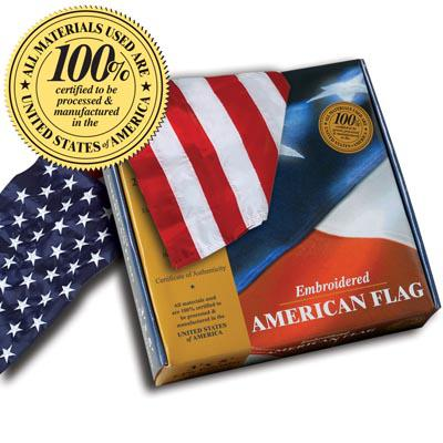 U.S. Flag - 5 x 8 Embroidered Nylon in Gift Box