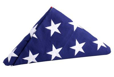 Official U.S. Interment Flag - 5 x 9.5