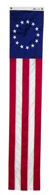 Betsy Ross Pull Down Banner - 19 x 8