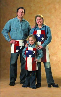 Patriotic Apron - Youth 20 x 20