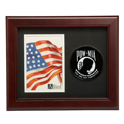 POW MIA Medallion 4-Inch by 6-Inch Portrait Picture Frame