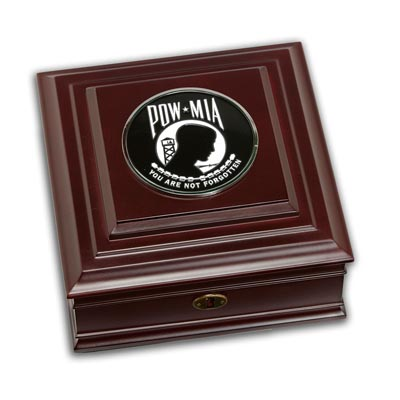 POW MIA Medallion Desktop Box