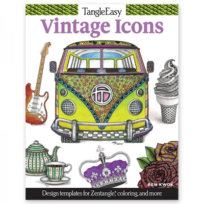 Vintage Icons Adult Coloring Book