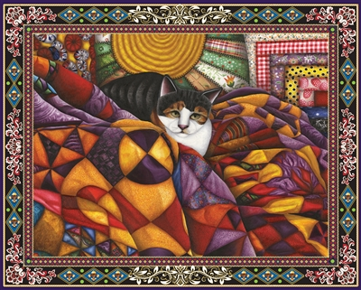 Quilted Cat 1000 Piece Jigsaw Puzzle