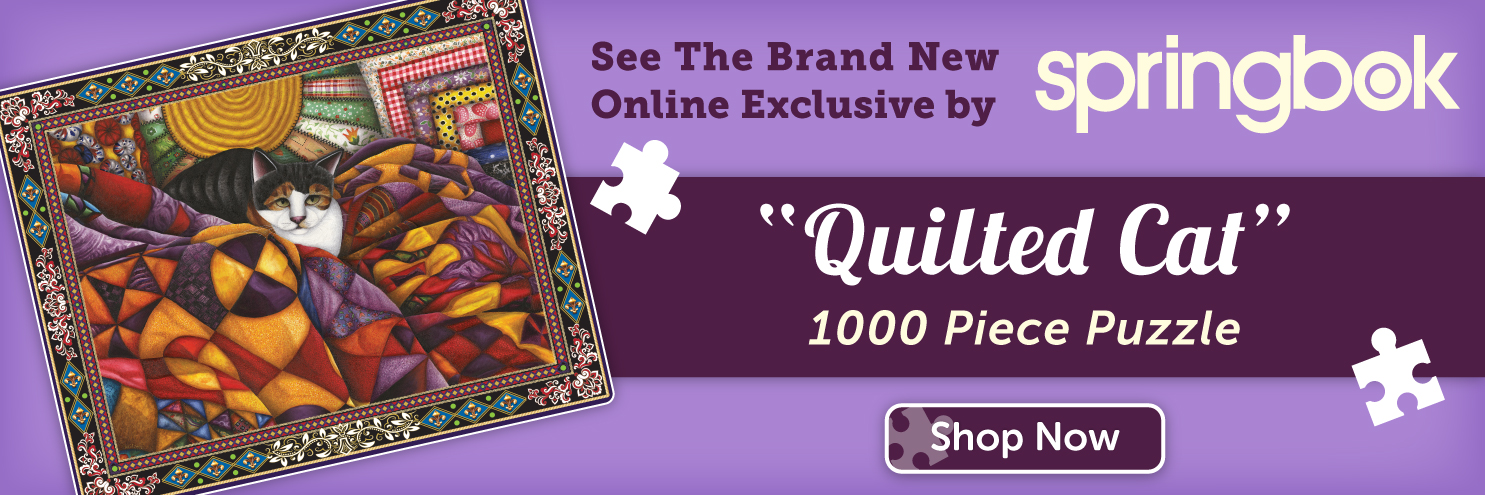 See Our New Puzzle Quilted Cat!