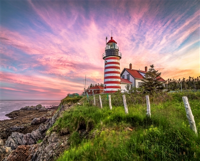 West Quoddy Head Lighthouse 1000 Piece Jigsaw Puzzle