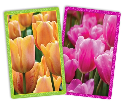Spring Tulips Jumbo Index Playing Cards