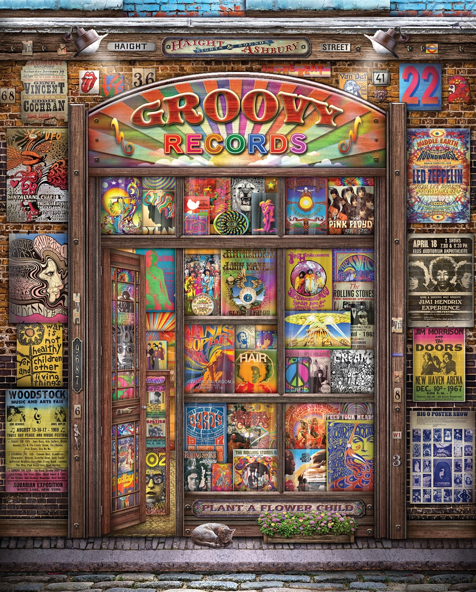 groovy records 1000 piece jigsaw puzzle