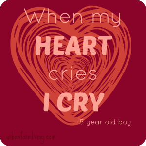 When my heart cries I cry