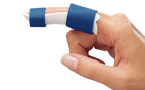 Attelle gouttière de doigt