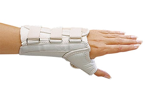 D-Ring Wrist and Thumb Spica Splint