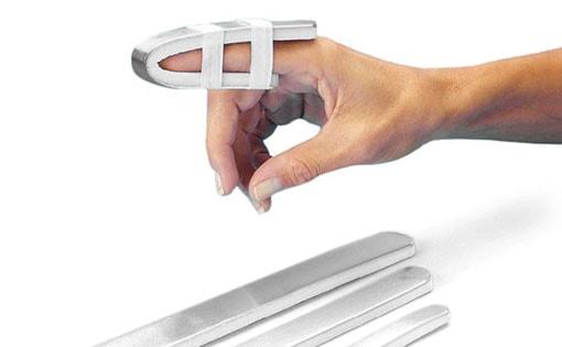 Attelles rembourrées en aluminium