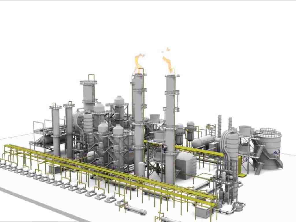 3D Animation Oil refinery for SABIC