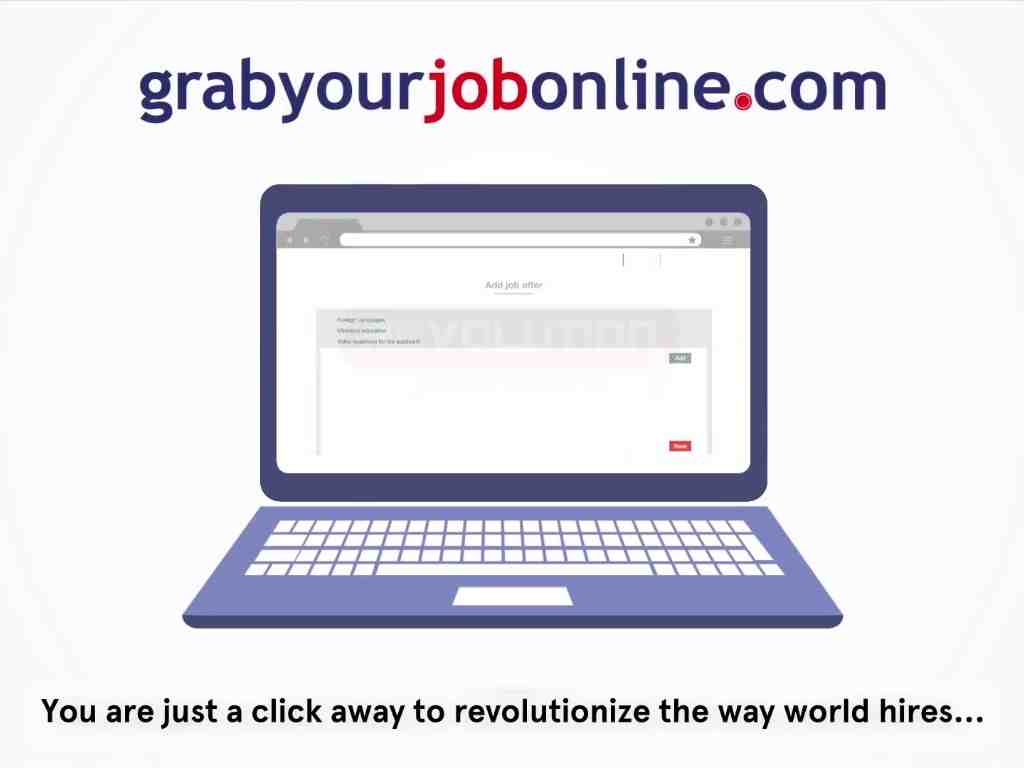 Grab your job online