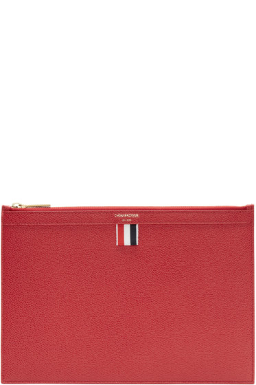 Thom Browne Red Small Tablet Holder