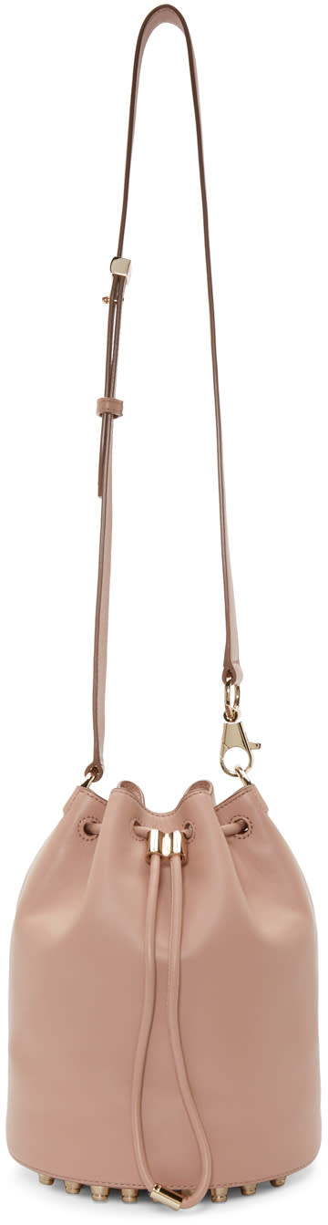 Alexander Wang Pink Leather Alpha Bucket Bag