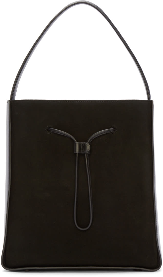 3.1 Phillip Lim Black Suede and Leather Large Soleil Bucket Bag