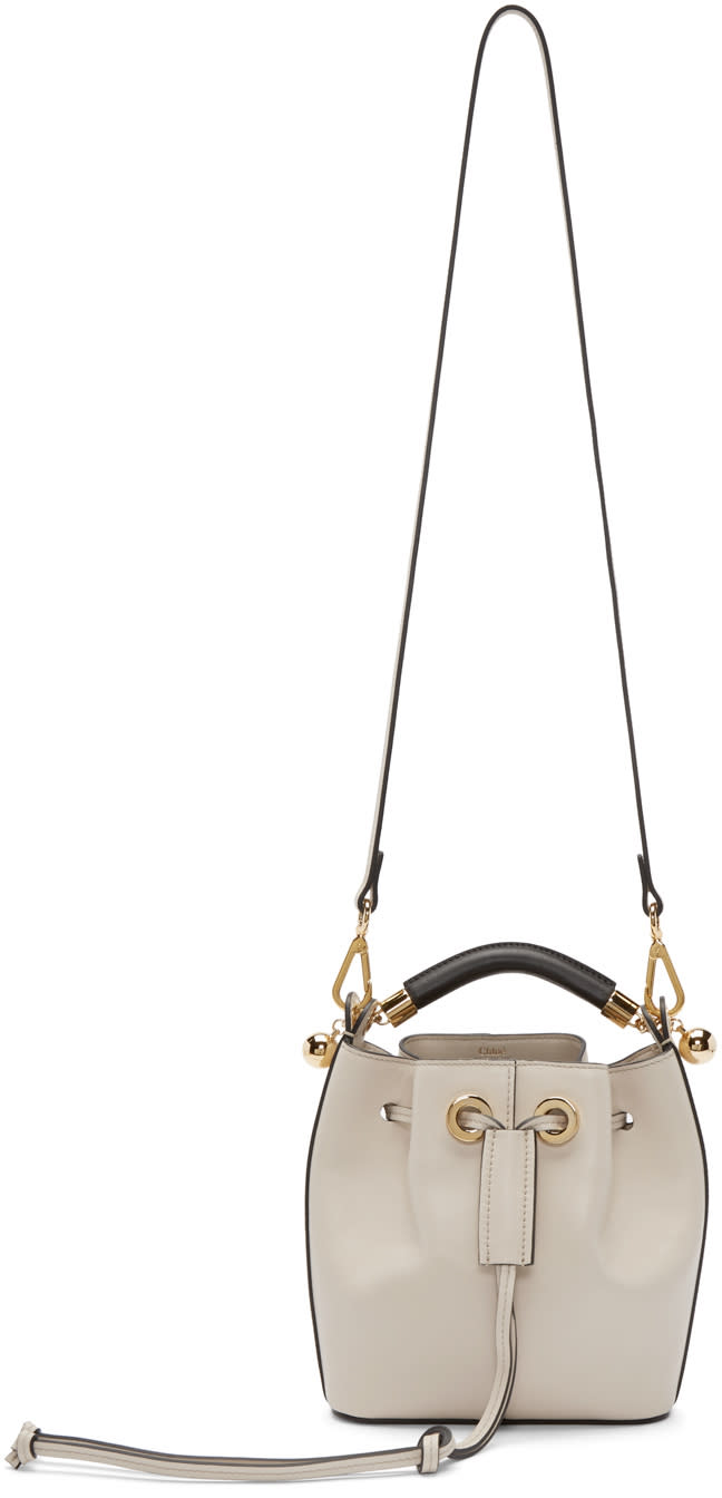 Chloe Beige Small Gala Bucket Bag