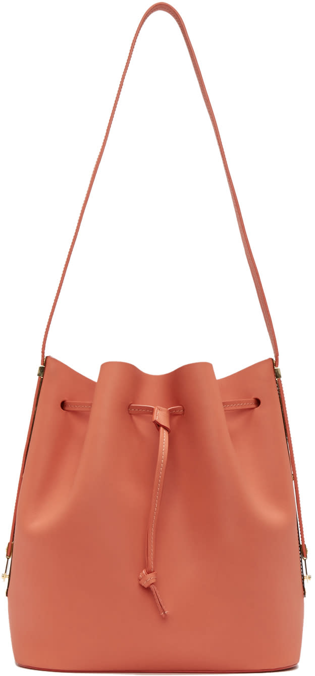 Sophie Hulme Pink Leather Gibson Bucket Bag