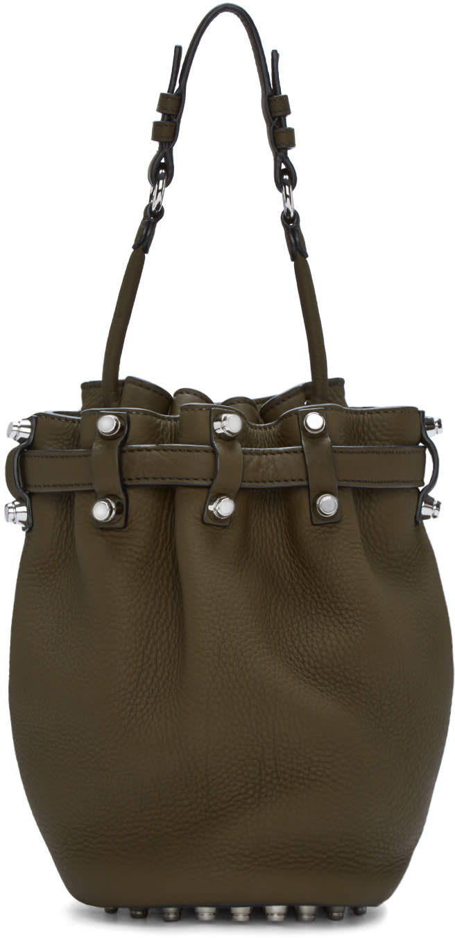 Alexander Wang Green Small Diego Bucket Bag