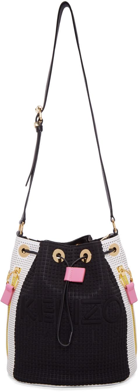 Kenzo Black and White Kombo Bucket Bag