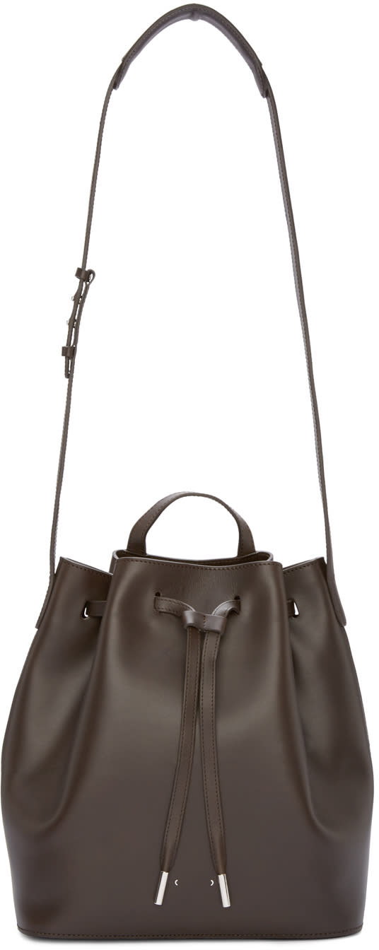 Pb 0110 Brown Ab16 Bucket Bag