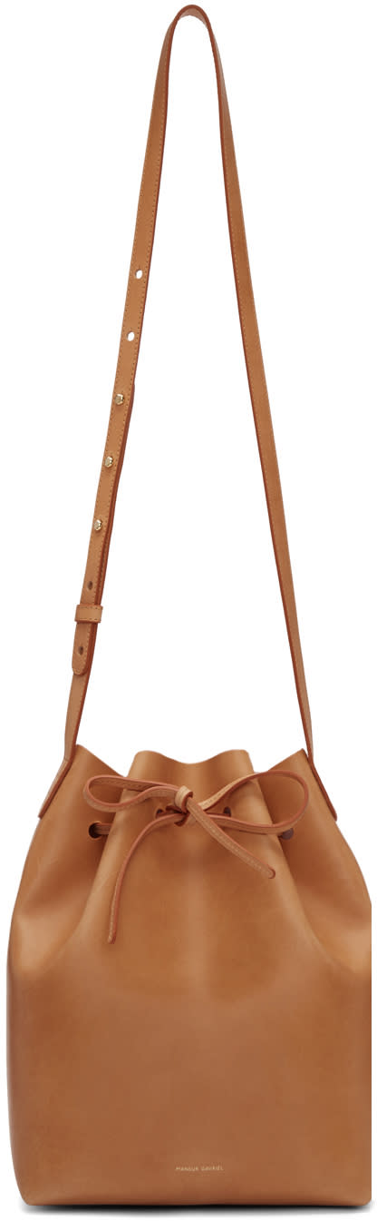Mansur Gavriel Tan Leather Bucket Bag