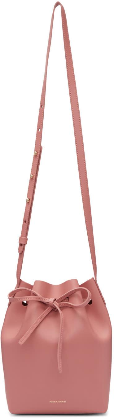 Mansur Gavriel Pink Leather Mini Bucket Bag