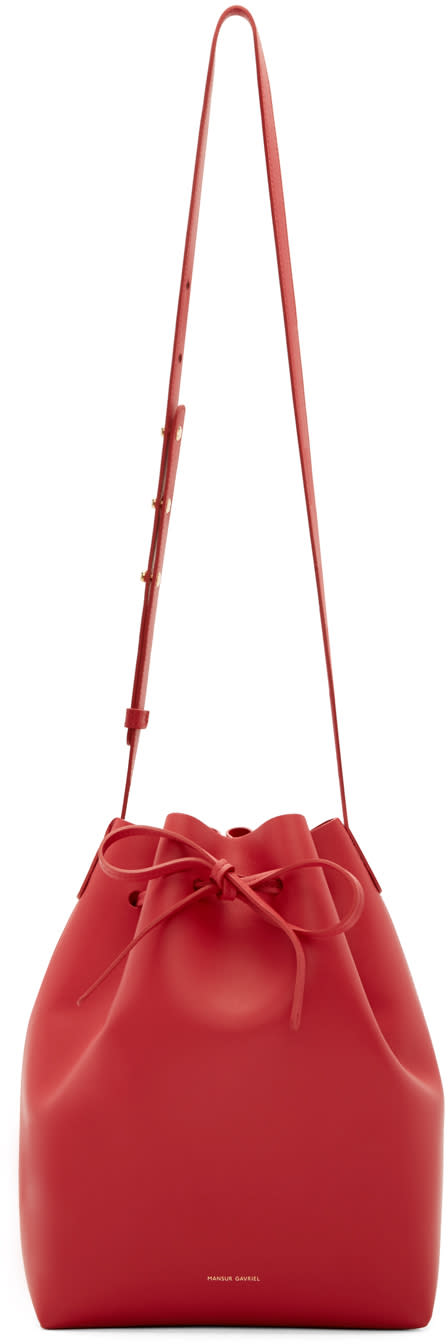 Mansur Gavriel Red Bucket Bag