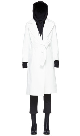A_Plan_Application - White Rubberized Rain Coat