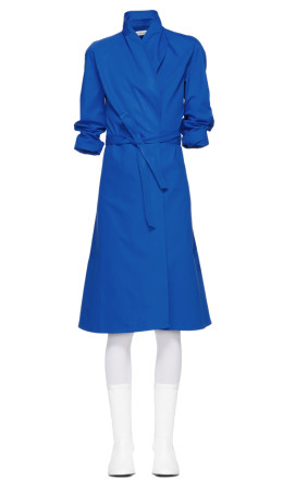 A_Plan_Application - Blue Directoire Wrap Dress