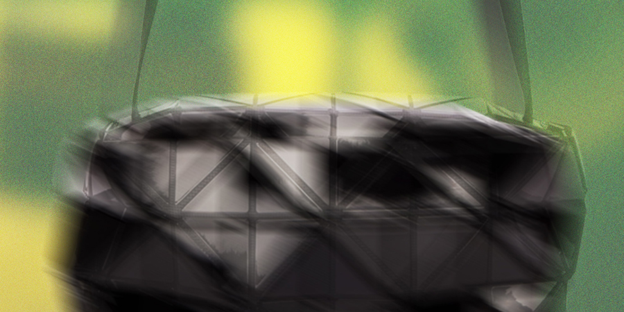 "Market Research: Bao Bao Issey Miyake's ""Black Small Carton S Messenger Bag"""