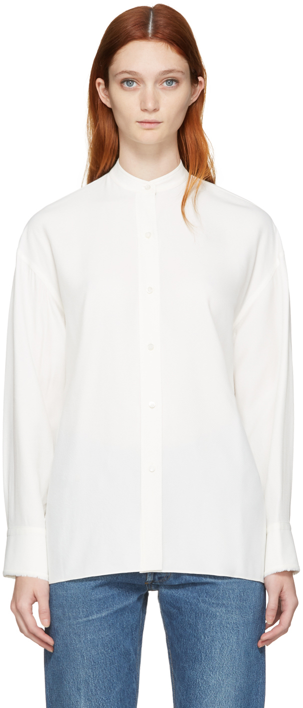 White Back Overlap Shirt