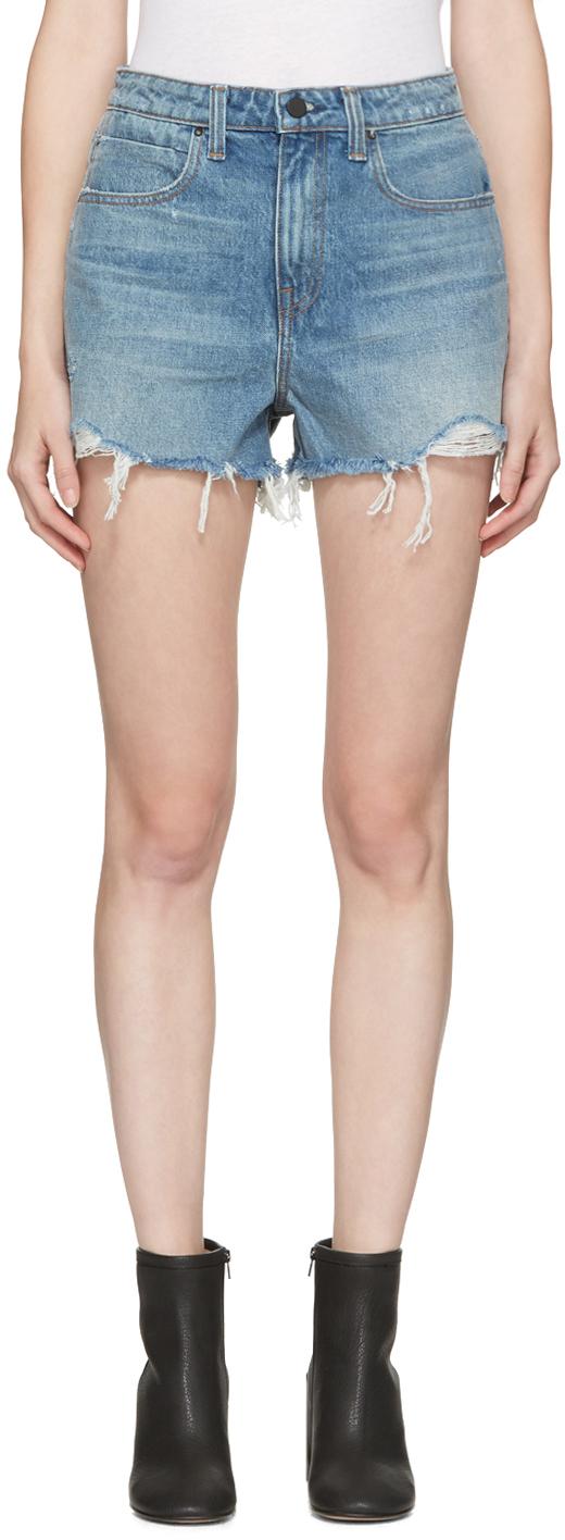 Indigo Denim Bite Shorts