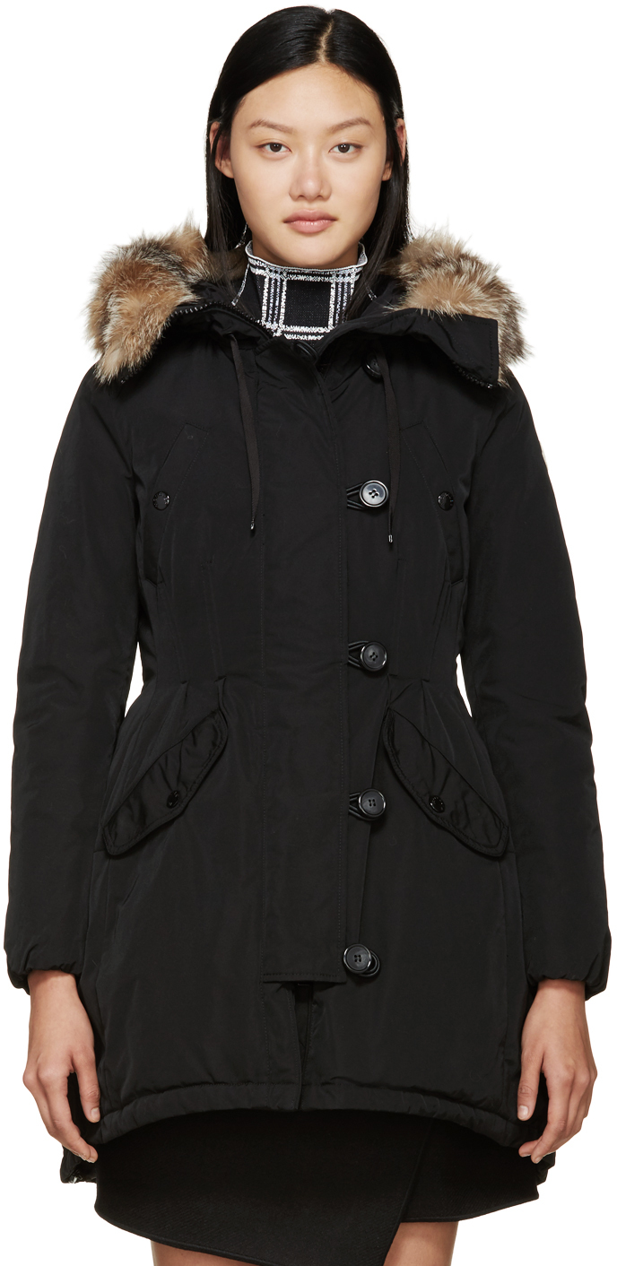 Black Down Ariette Coat