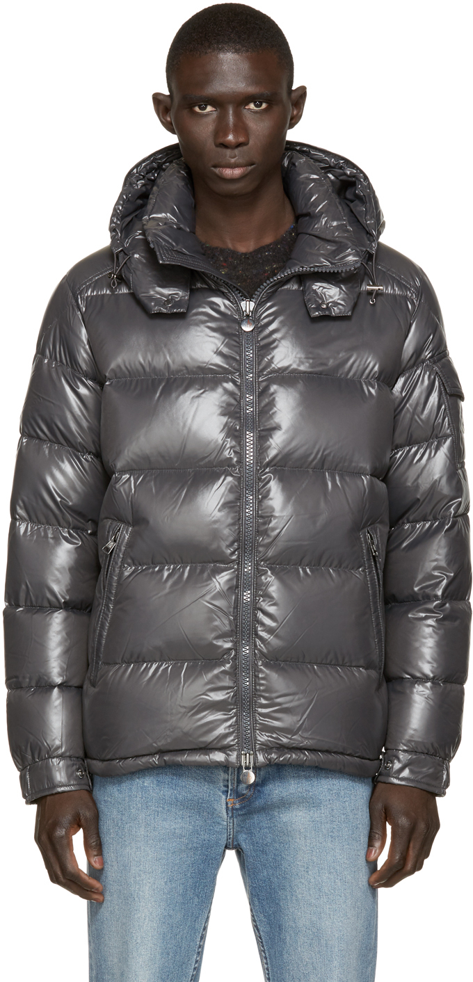 Charcoal Quilted Down Maya Jacket