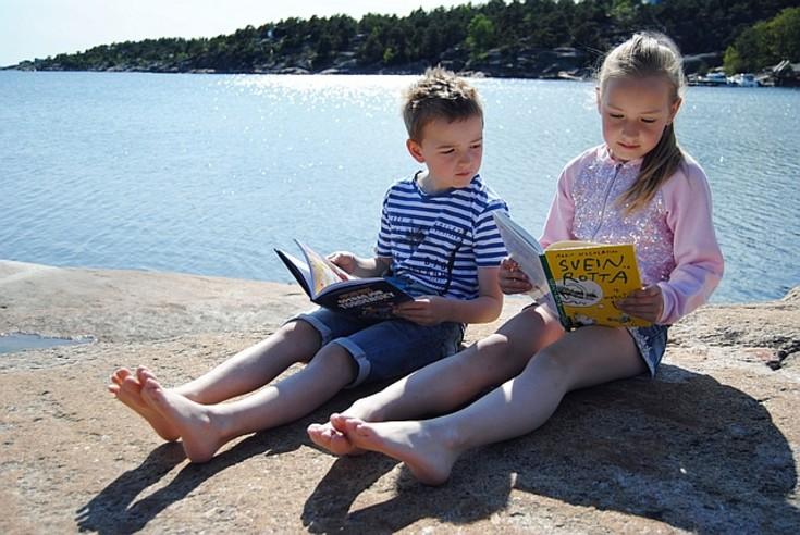 Sommerles: bibliotekets digitale lesekampanje. Foto: Morten Brunslid