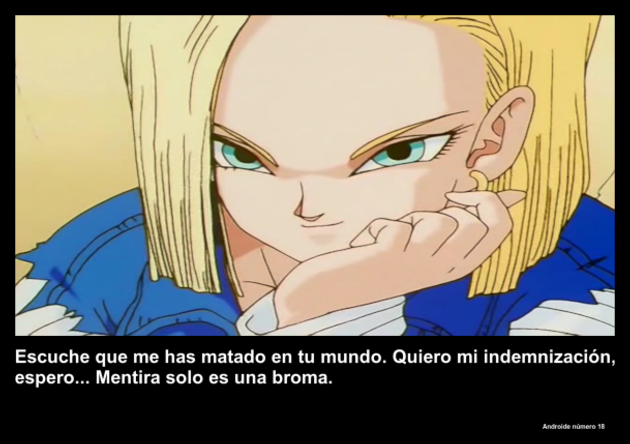 androidenumero18 | Frase Dragon Ball