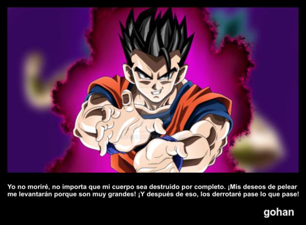 gohan | Frase Dragon Ball