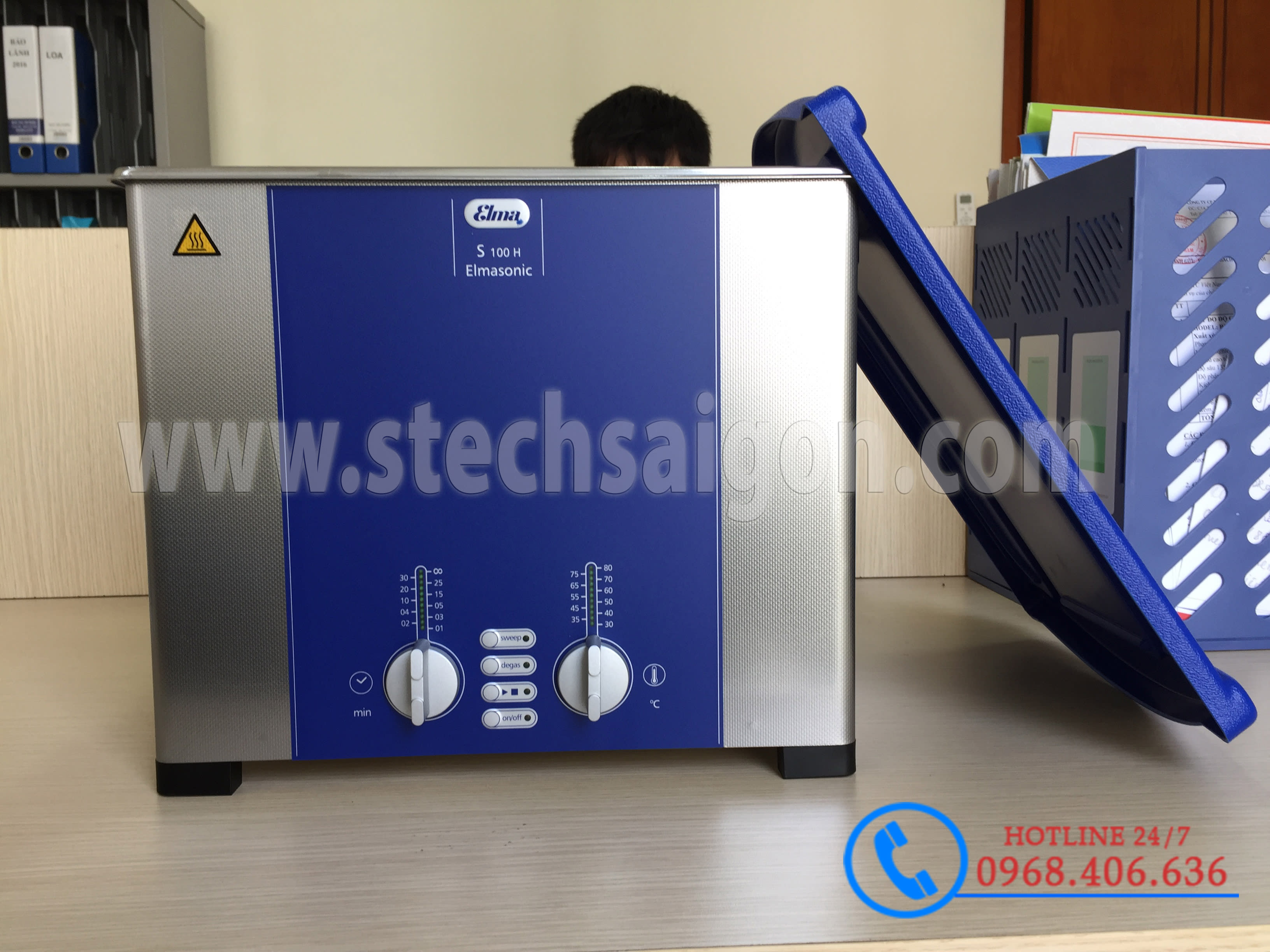 Hình ảnh Bể rửa siêu âm Elma™ S60H - 5.75 lít sản phẩm có sẵn tại Stech Sài Gòn