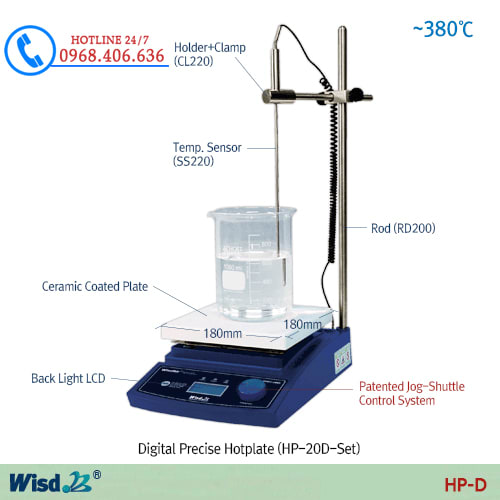 Hình ảnh <p>Bếp gia nhiệt hiện số Daihan(th&ecirc;m cảm biến nhiệt độ trong dung dịch),HP-30D-SET</p> sản phẩm có sẵn tại Stech Sài Gòn