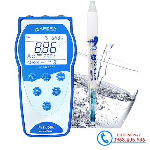 Hình ảnh Máy đo pH/độ dẫn/mV/nhiệt độ dùng trong nước sạch APERA PH8500-PW( Có lưu dữ liệu ) sản phẩm có sẵn tại Stech Sài Gòn
