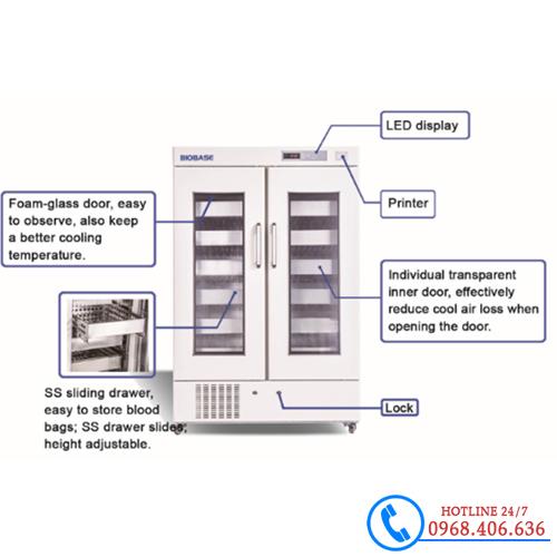 Hình ảnh Tủ lạnh trữ máu chuyên dụng 1000 lít Biobase BBR-4V1000 cung cấp bởi Stech Sài Gòn. Sản phẩm có sẵn tại Hà Nội và Hồ Chí Minh